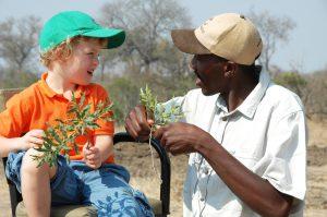 enfant lors d'un safari au Tintswalo Manor House Safari Lodge