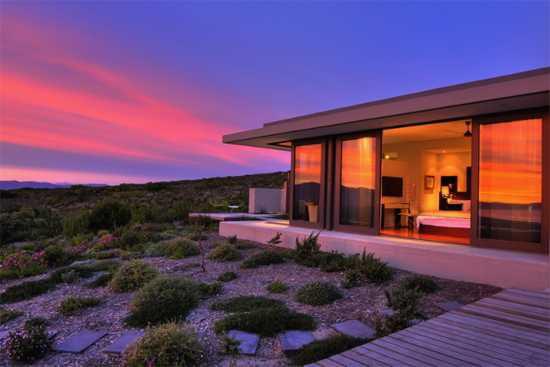 Malerischer Sonnenuntergang in Südafrika