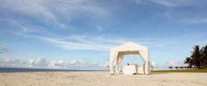 séjour romantique à l'île maurice : dîner sur le plage