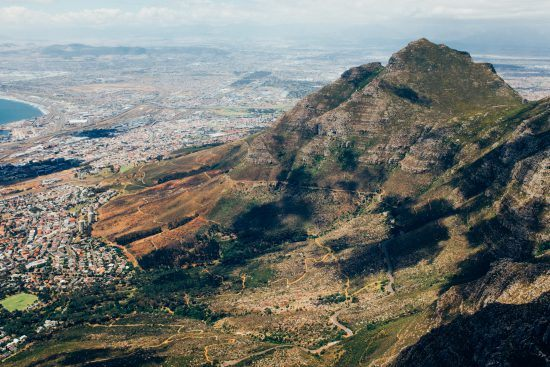 A view of Devil's Peak from Table Mountain