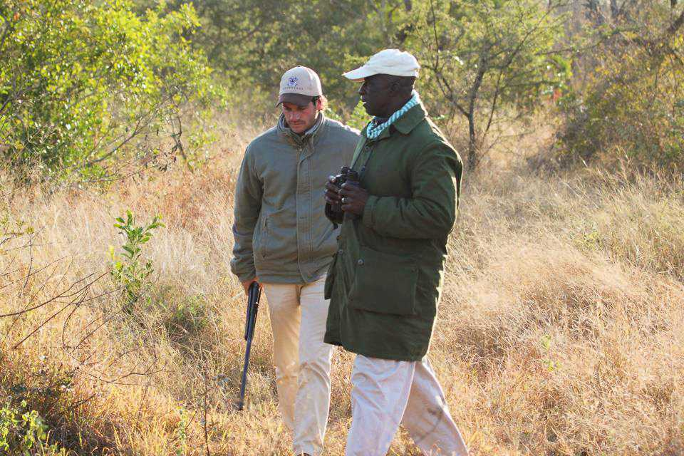 """Mark and Elmon tracking the lions..."""