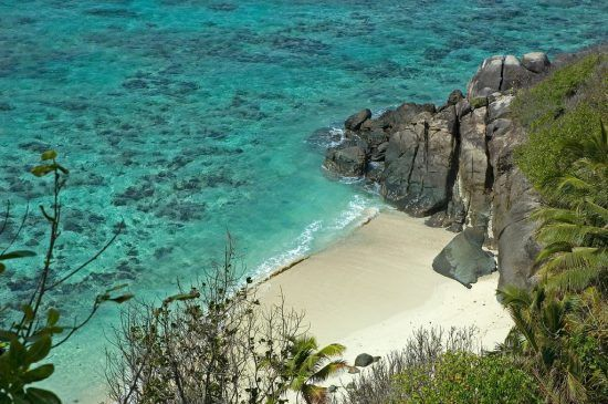 View of a beach in Seychelles
