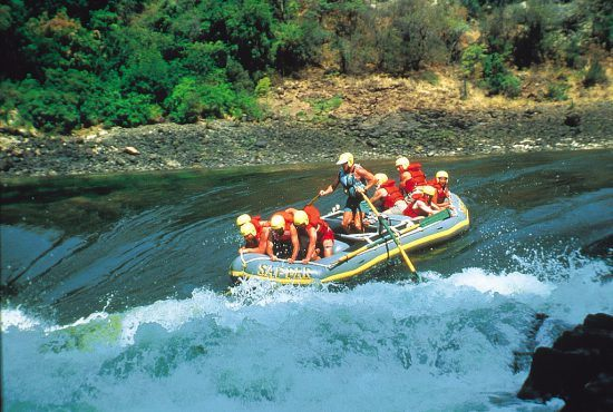 White-water rafting at Victoria Falls