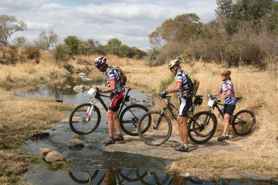 Mountain biking at Victoria Falls is thrilling to do in groups