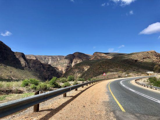 The scenic Route 62 of the Garden Route