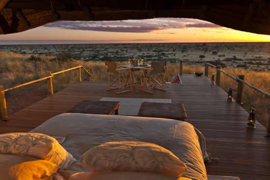 Tswalu sleepout deck in the Kalahari, South Africa