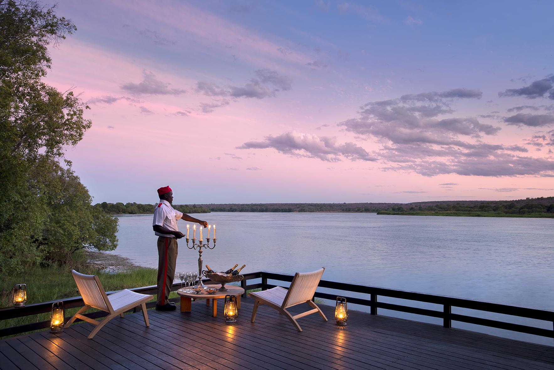 Royal_chundu_Zambezi River candlelit diner on river