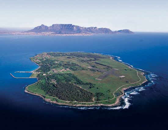 Robben Island with Table Mountain in the background