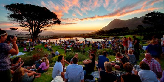 Sunset view at the Cape Point Vineyard's Market