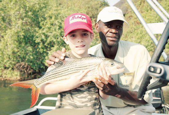 Look! I caught a fish at Royal Chundu