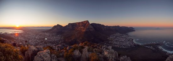 A panoramic view of Cape Town from Lion's Head