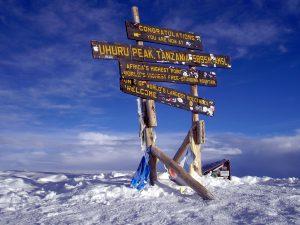 Top of mount Kilimanjaro