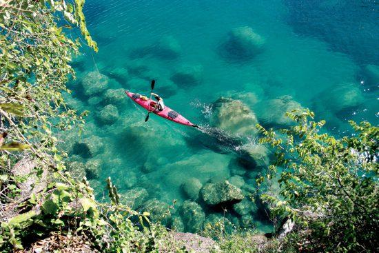 Kayak on Lake Malawi