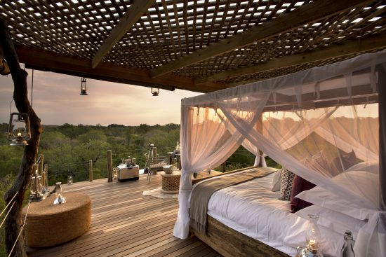 Kingston treehouse with a view of the bedroom