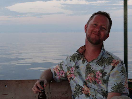 Toast enjoying Lake Malawi