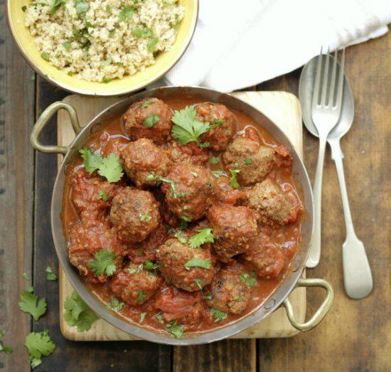 Moroccan Meatballs & Herbed Couscous recipes