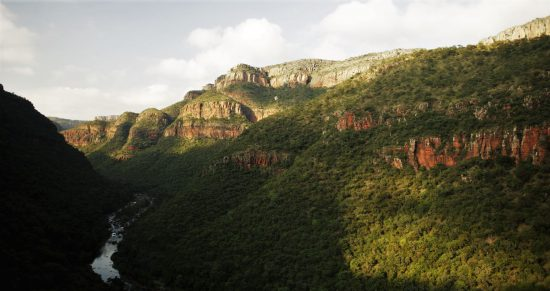 View of River Creek Mountains Panorama Route South Africa