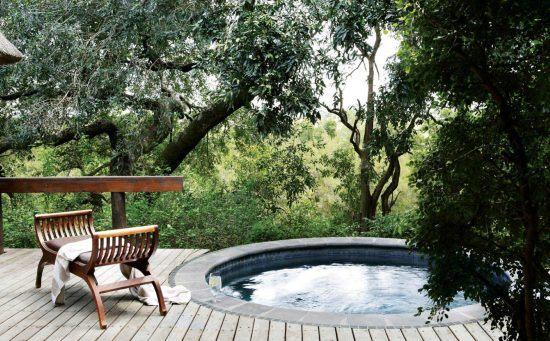 Uma piscina privada com vista para Sabi Sand no Londolozi Varty Camp