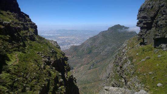 Vista da rota de Platteklip Gorge