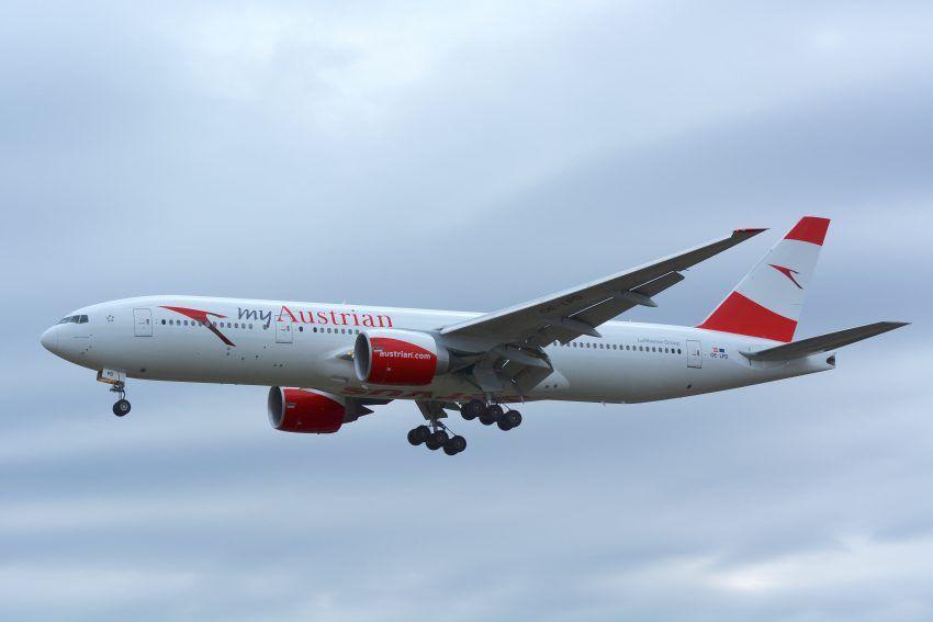 Eine Boeing 777-200 der Austrian Airlines