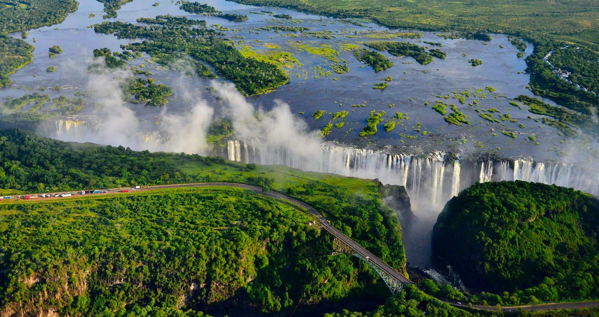 Victoria Falls as viewed from above