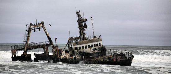 Shipwreck on the skeleton coast Namibia