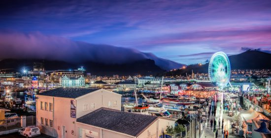 Table Mountain table cloth city view