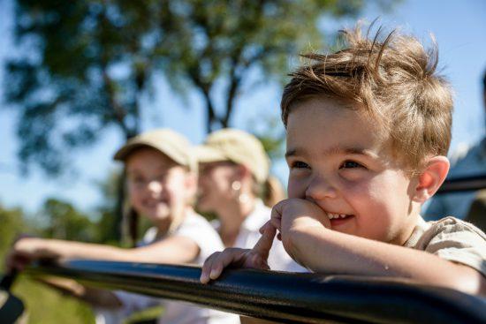 Kinder auf Pirschfahrt
