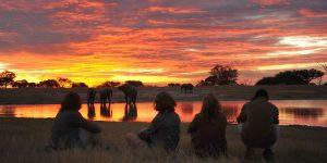 Safaris a pie, elefantes y un atardecer africano