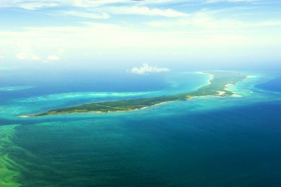 Vamizi Island aus der Vogelperspektive