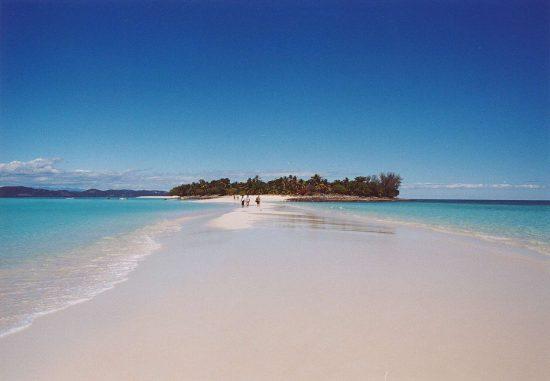 a stretch of beach at Madagascar
