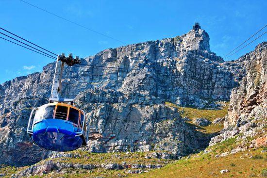 Bondinho à caminho do topo da Table Mountain