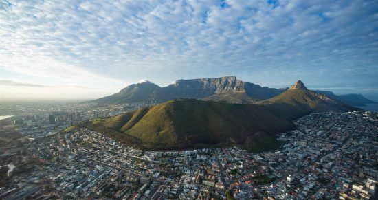 Vista aérea da Table Mountain