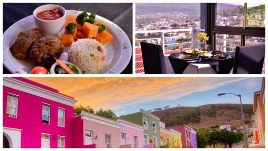 Bo-Kaap Kambuis proporciona comida Cape Malay com vistas deslumbrantes das montanhas da Table Mountain