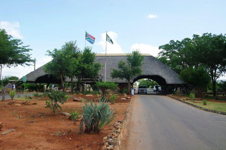 Entrada Malelane do parque Kruger
