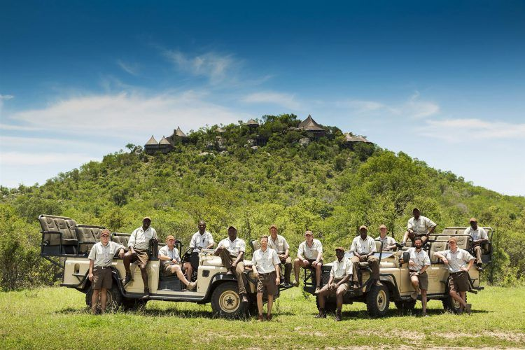 Equipe de guias e rastreadores do Ulusaba Safari Lodge