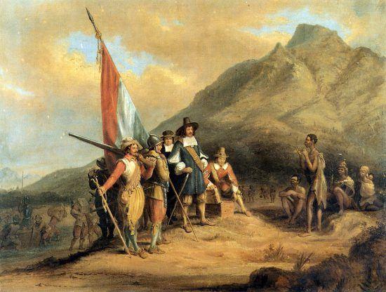 Ilustração retrata Jan van Riebeeck, colonizador e fundador da Cidade do Cabo, na África do Sul