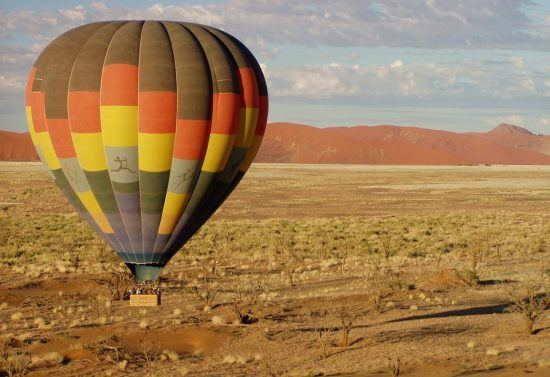 Passeio de balão de ar quente na Namíbia