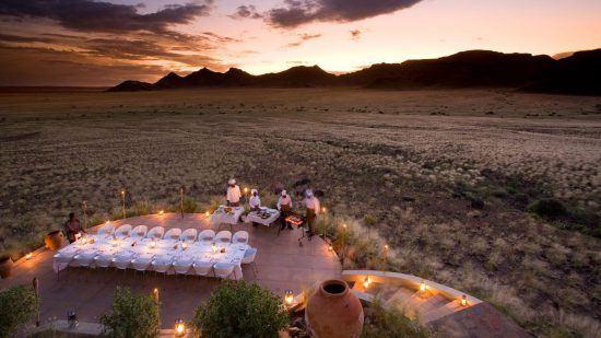 Dinner in der Sossusvlei Desert Lodge