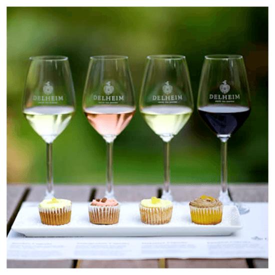 cupcake wine tasting delheim