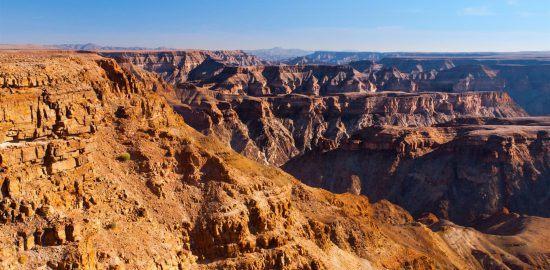 O dramático Fish River Canyon na Namíbia