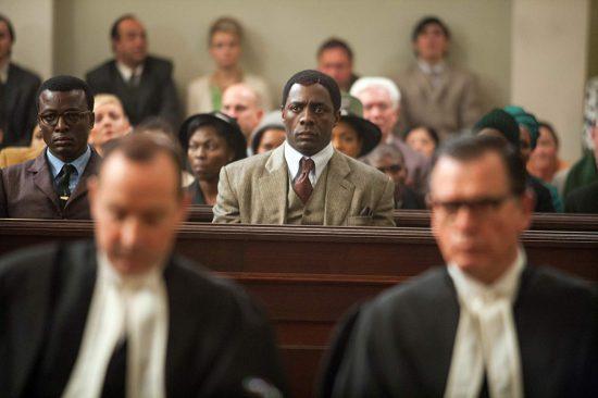 Idris Elba como Nelson Mandela em produção cinematográfica de 2013