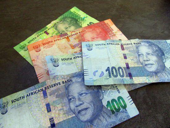 Rands sul-africanos em espécie