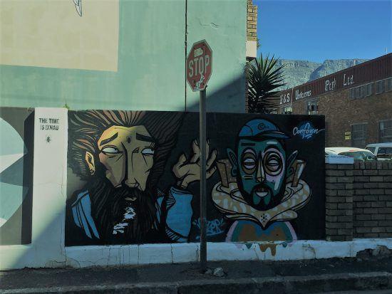 Graffittis in Woodstock, Kapstadt