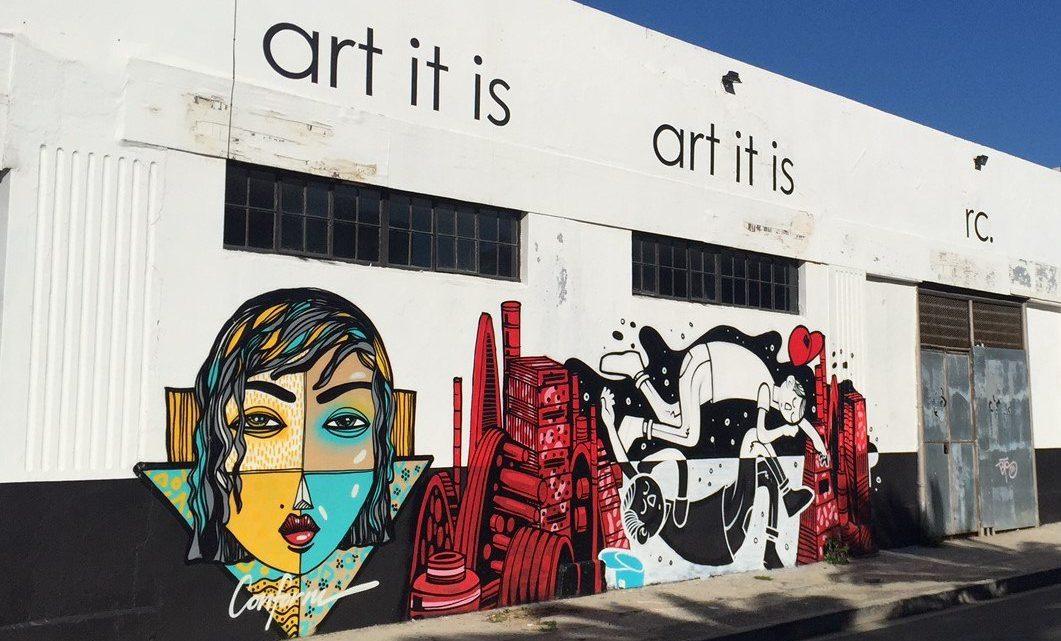 Kunstvolle und politische Straßenkunst in Woodstoock, Kapstadt