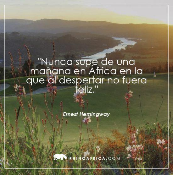 Frase sobre África de Ernest Hemingway