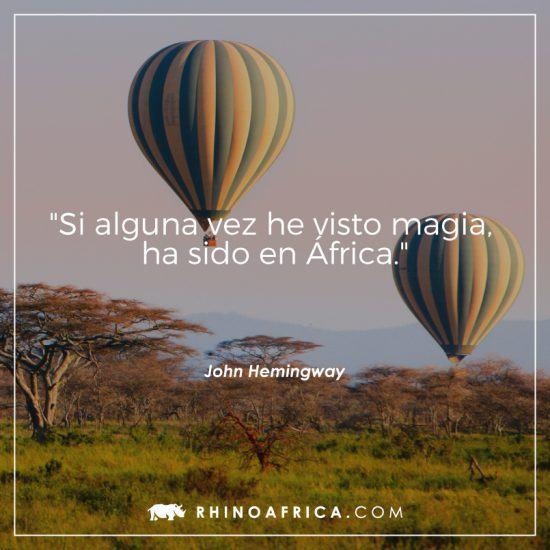 Frase sobre África de John Hemingway