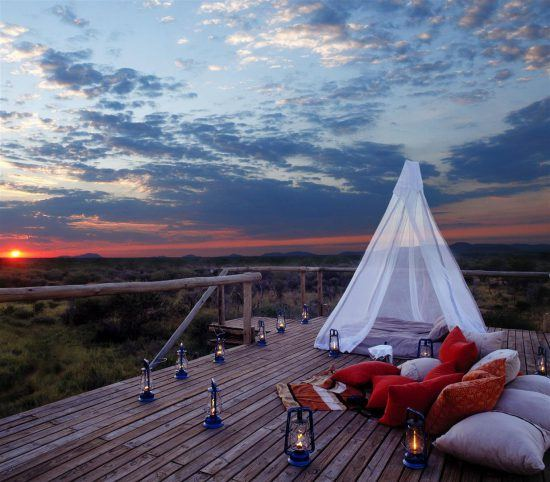 Perfect spot to watch the sunset at Makanyane Safari Lodge in Madikwe