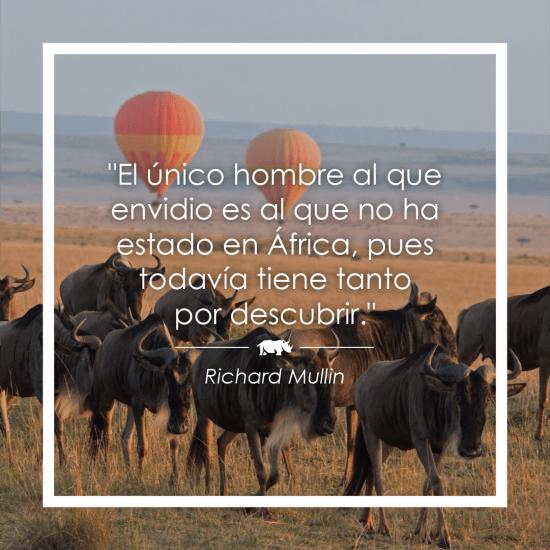 Frase sobre África de Richard Mullin
