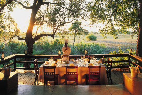 Breakfast with a view at Sabi Sabi Selati Camp